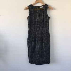 Calvin Klein Black Abstract Knee Length Dress 2